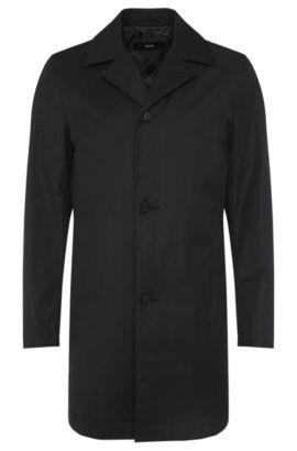 Manteau Slim Fit en coton mélangé imperméable: «Dais11», Noir