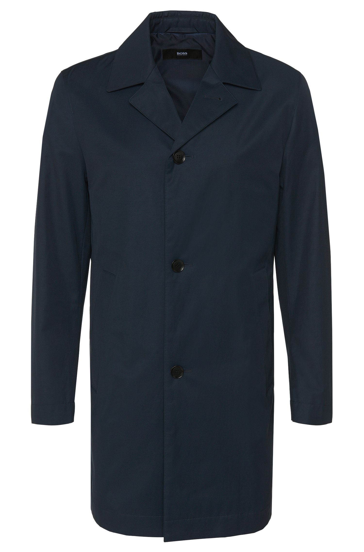 Slim-fit coat in water-repellent cotton blend: 'Dais11'