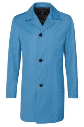 Manteau Slim Fit en coton mélangé imperméable: «Dais11», Bleu vif