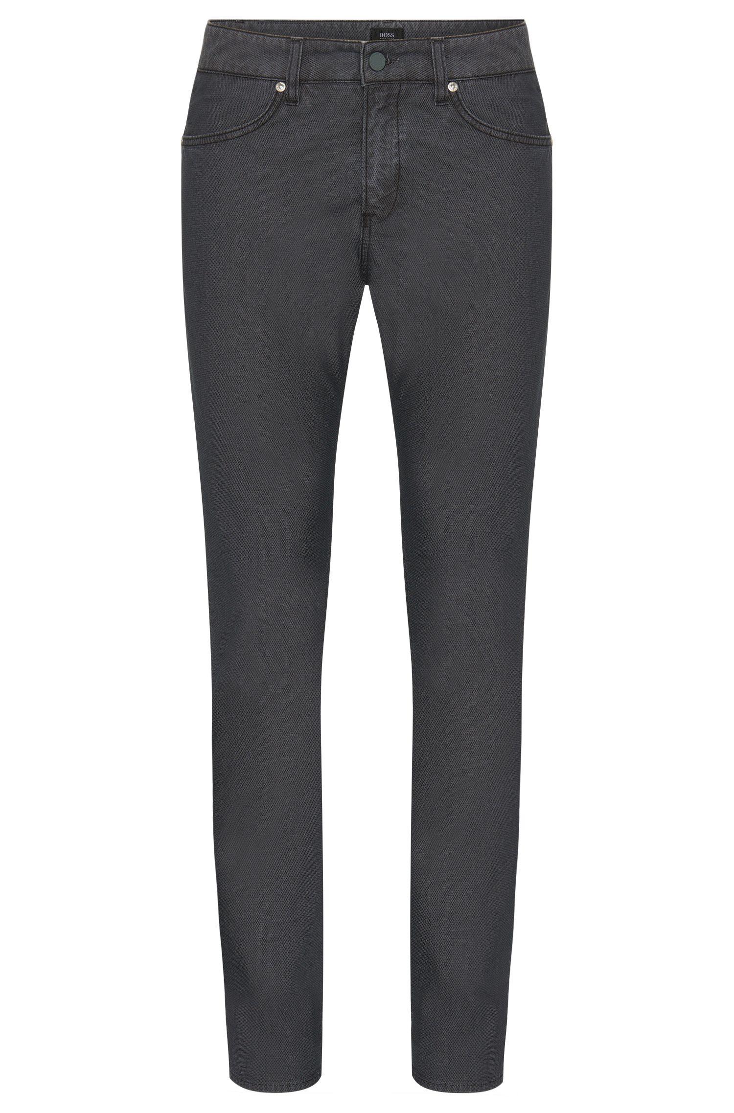 Fein strukturierte Slim-Fit Hose aus elastischem Baumwoll-Mix: 'Delaware3-20'
