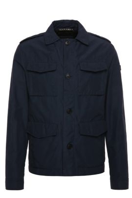 Cotton-blend field jacket: 'Oricky-W', Dark Blue