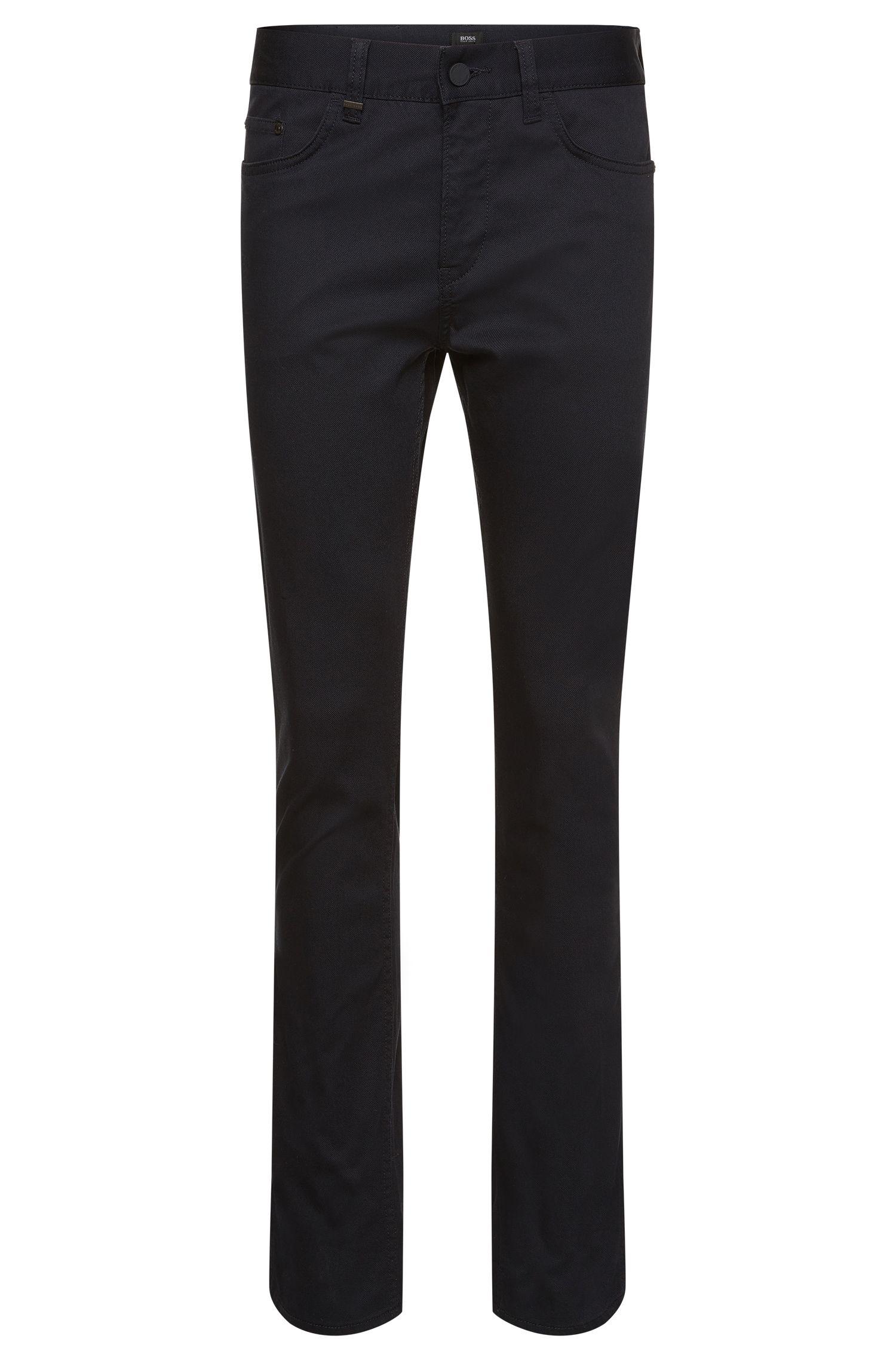 Pantalon Slim Fit structuré en coton stretch: «Delaware4-20»