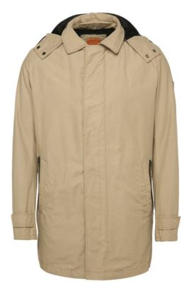 Regular-fit jacket in cotton blend with integrated waistcoat: 'Otorio-W', Beige