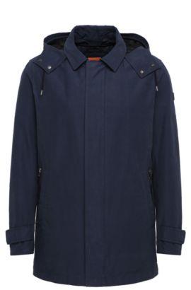 Chaqueta regular fit en mezcla de algodón con chaleco integrado: 'Otorio-W', Azul oscuro