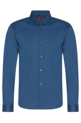 Chemise Slim Fit unie, en coton stretch: «Ero3», Bleu vif