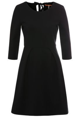 Regular-Fit Kleid aus elastischem Viskose-Mix: ´Alockita`, Schwarz