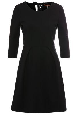 Robe Regular Fit en viscose mélangée extensible: «Alockita», Noir