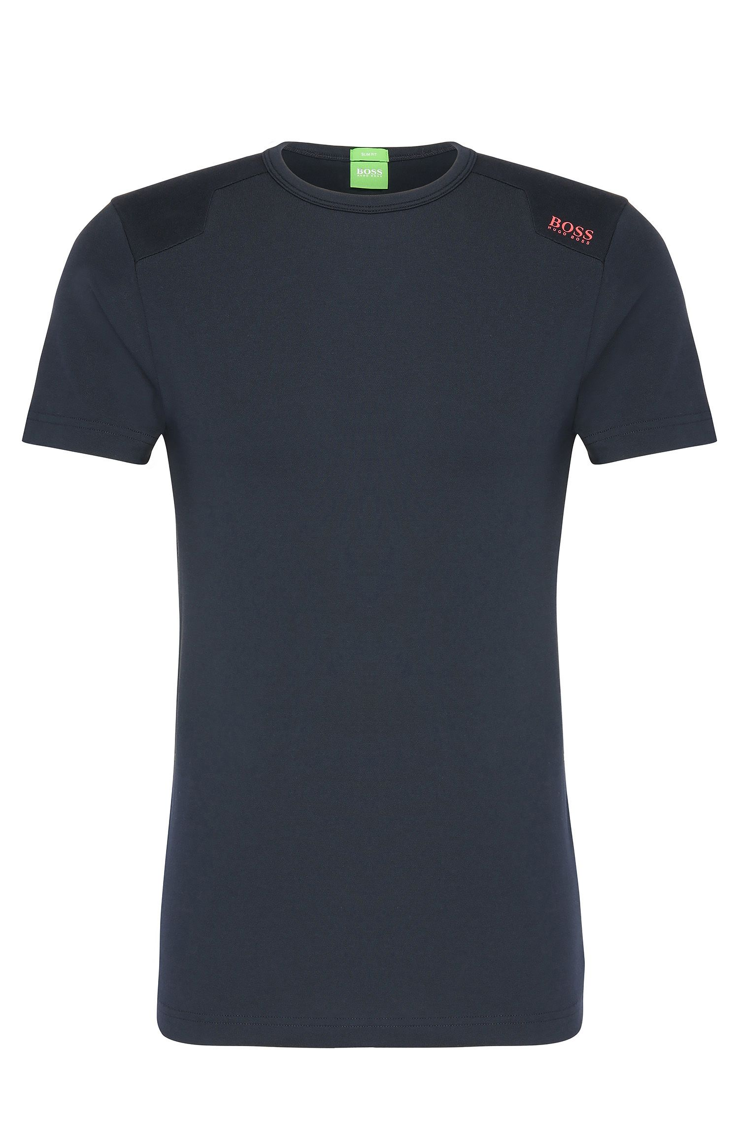 Texturiertes Slim-Fit Shirt aus elastischem Baumwoll-Mix: ´Teenox`