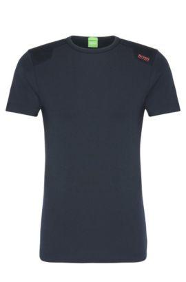 Texturiertes Slim-Fit Shirt aus elastischem Baumwoll-Mix: ´Teenox`, Dunkelblau