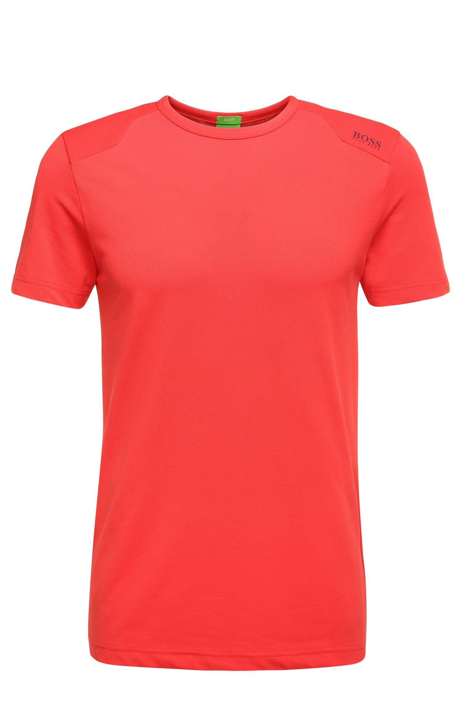 T-shirt texturé Slim Fit en coton extensible mélangé: «Teenox»