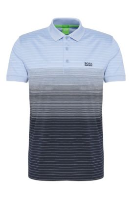 Regular-fit polo shirt in fade-out-look cotton: 'Paddy 3', Dark Blue