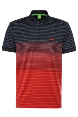 Polo regular fit en algodón con aspecto desgastado: 'Paddy 3', Rojo claro