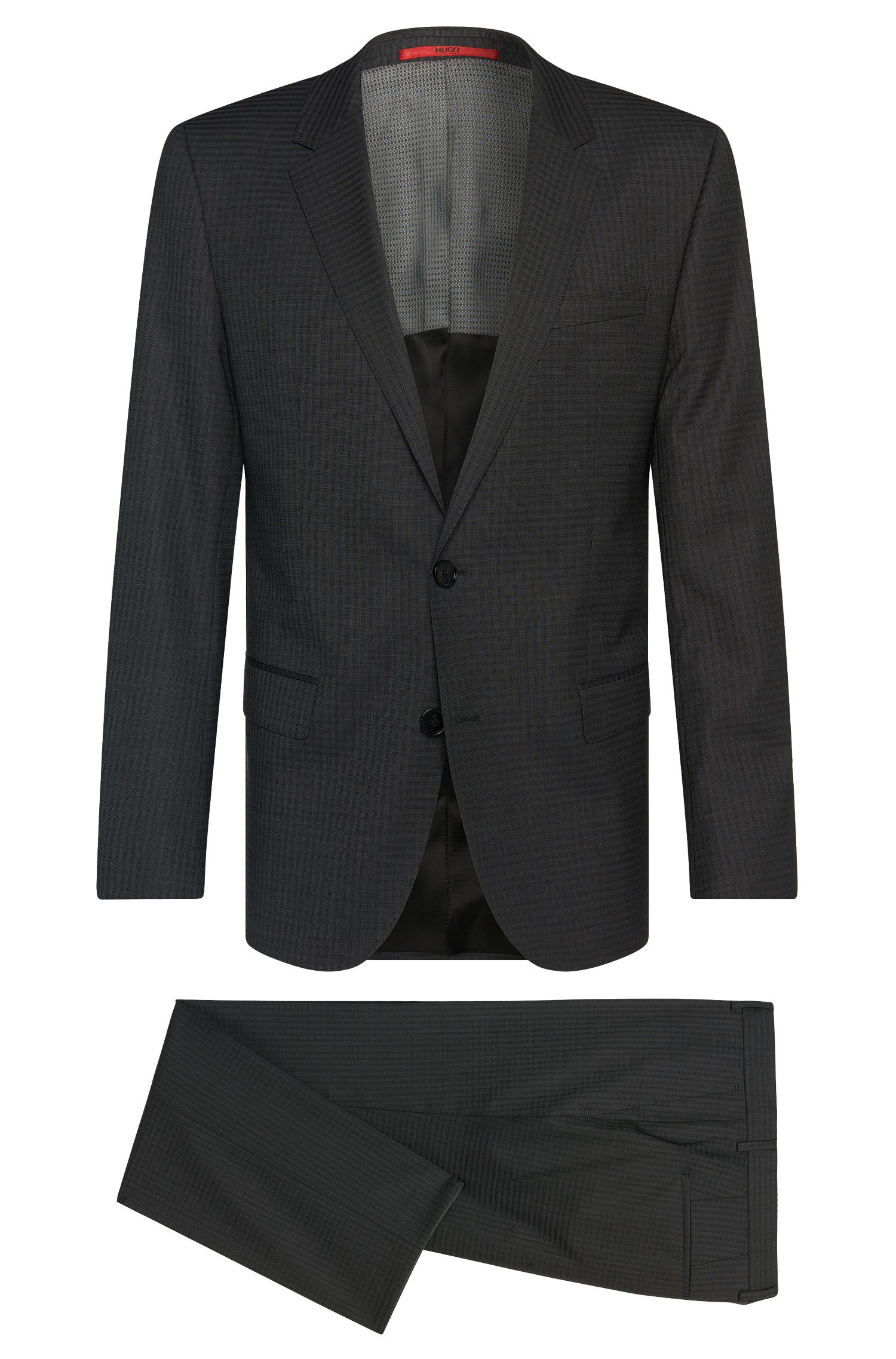 Finely checked slim-fit suit in new wool: 'C-Huge1/C-Genius'