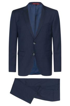 Fein gemusterter Regular-Fit Anzug aus Schurwolle: 'C-Jeys1/C-Shaft1, Blau
