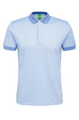 Polo Regular Fit structuré en coton mélangé: «C-Genova», Bleu vif