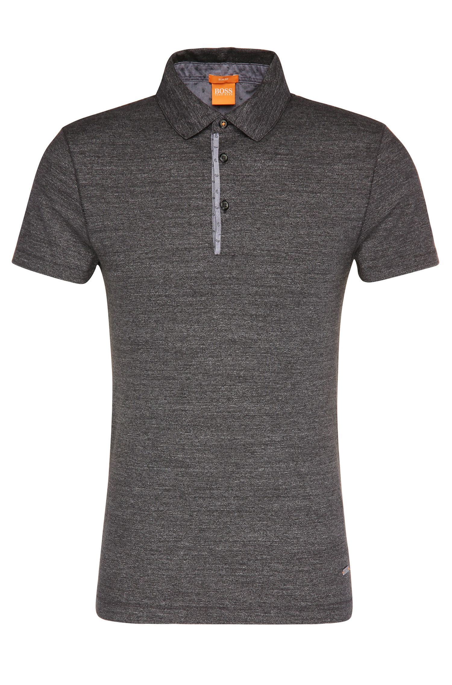 Slim-Fit Polo aus Baumwolle mit Kontrast-Details: ´Patcherman 1`