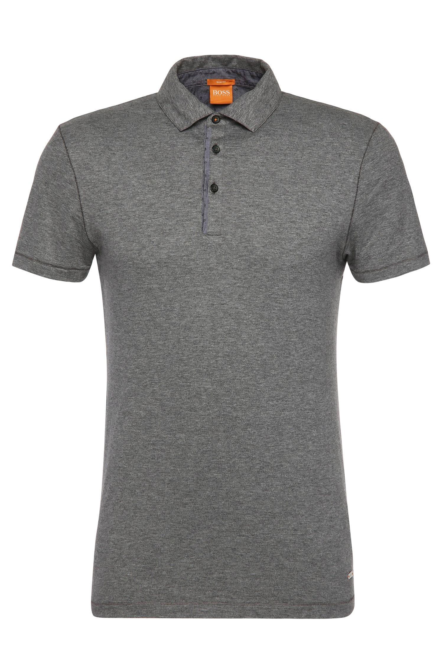 Polo Slim Fit en coton avec détails contrastants: «Patcherman 1»