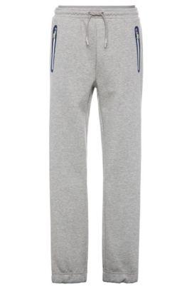 Pantalon de jogging en coton mélangé: «Heacho», Gris chiné