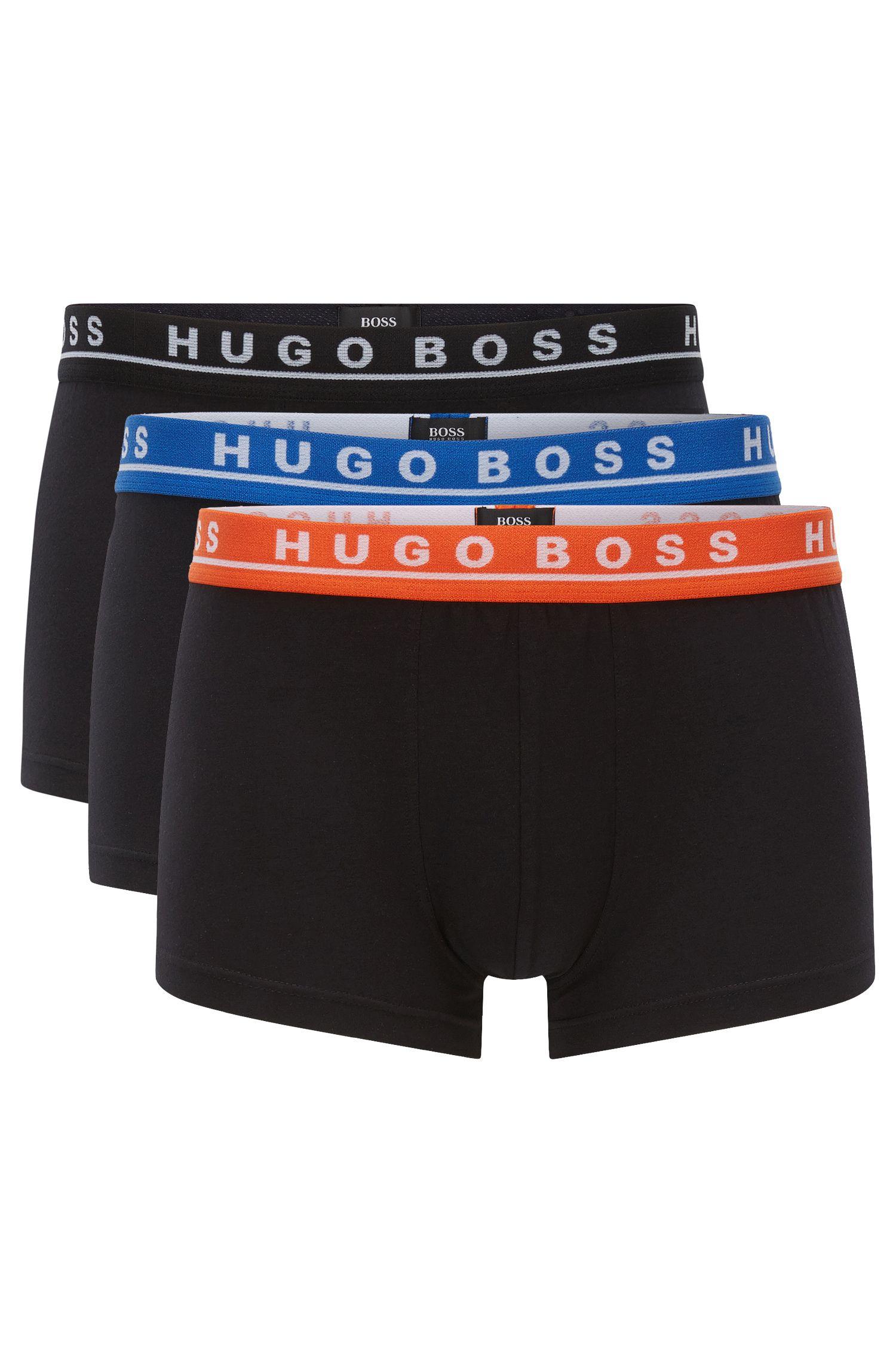 Lot de trois boxers en coton stretch