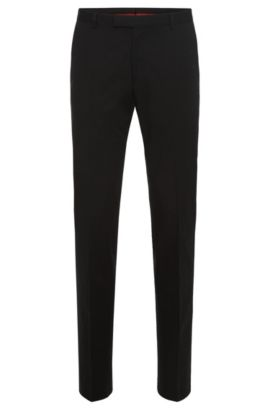 Regular-fit trousers in stretch cotton: 'C-Shark1', Black