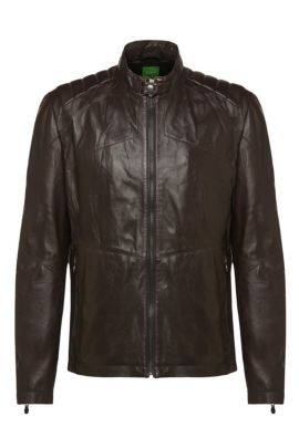 Blouson en cuir grainé Regular Fit: « CJaikido », Marron