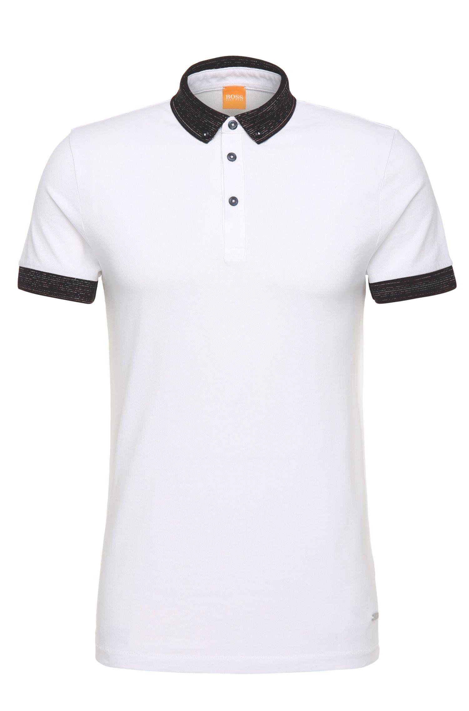 Polo regular fit en algodón con detalles contrastados: 'Pilipe'