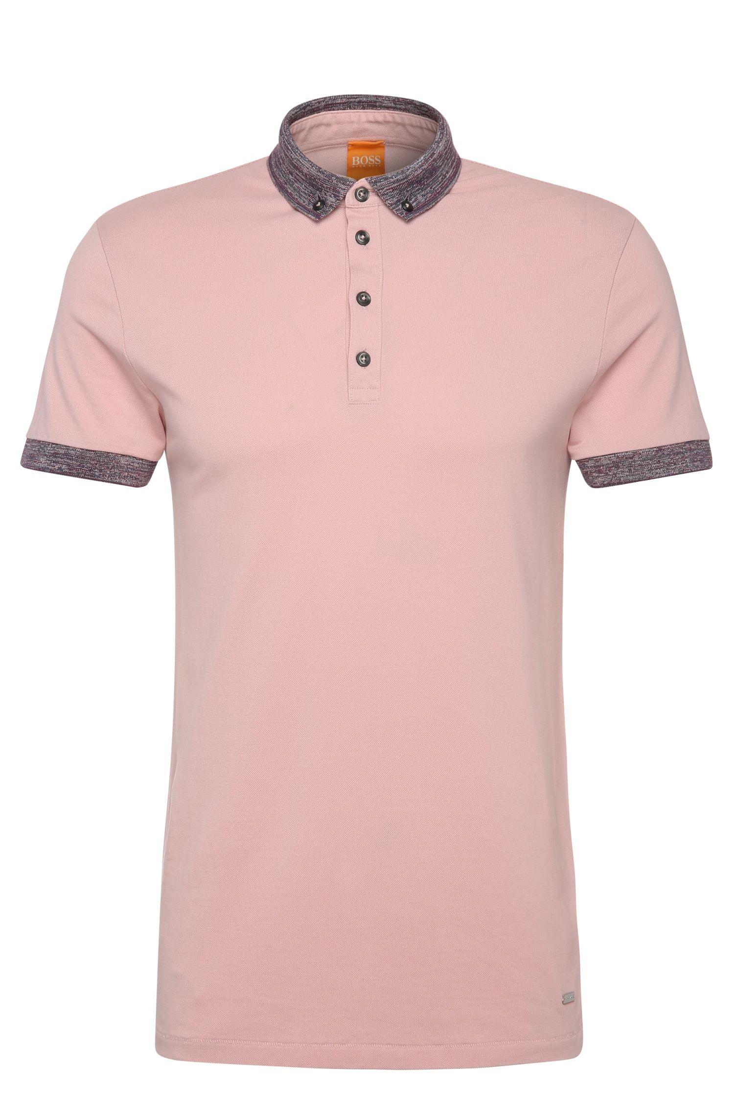 Regular-Fit Poloshirt aus Baumwolle mit Kontrast-Details: ´Pilipe`