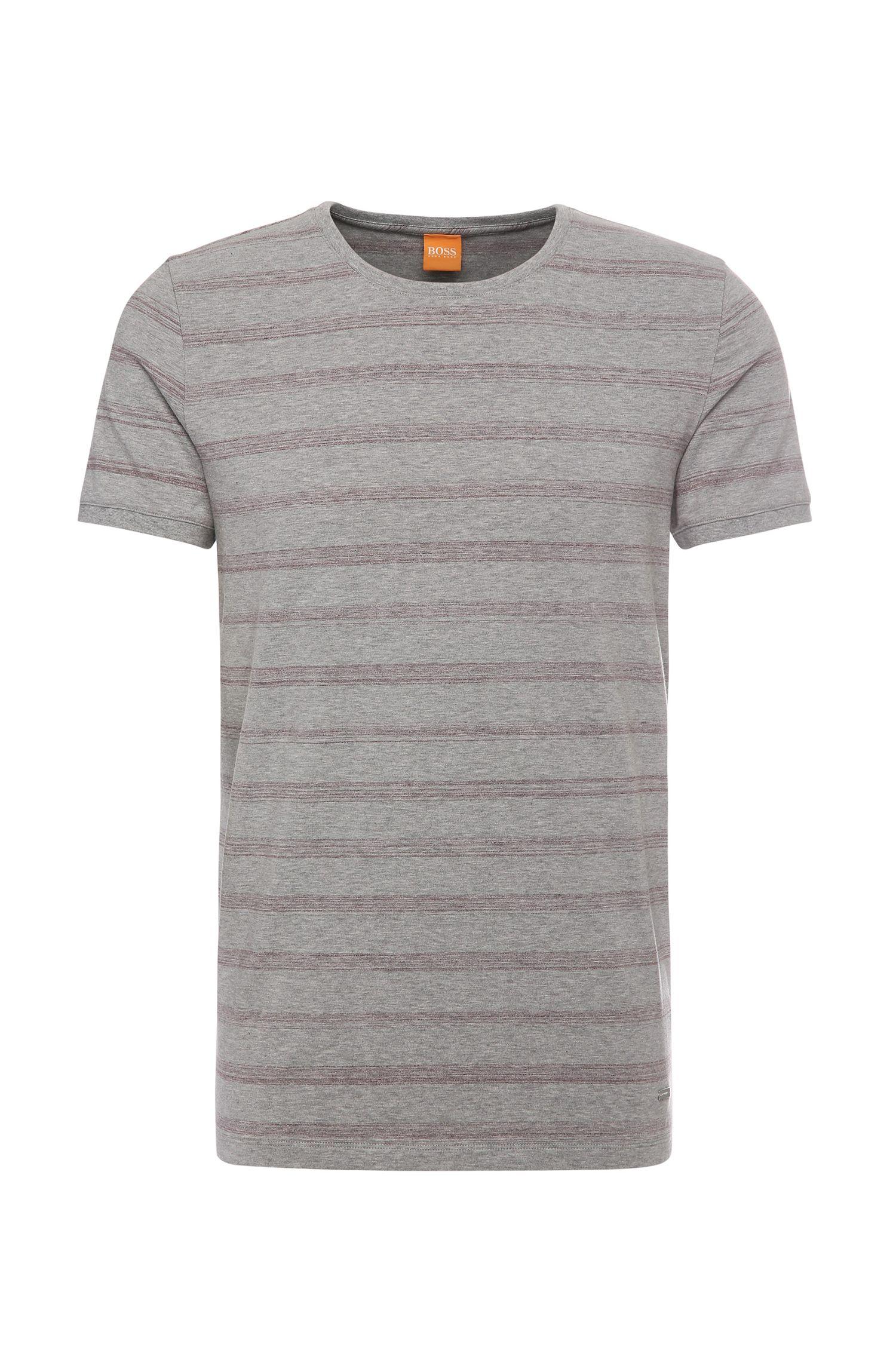 T-shirt Relaxed-Fit en coton extensible, à motif rayé: «Tex»