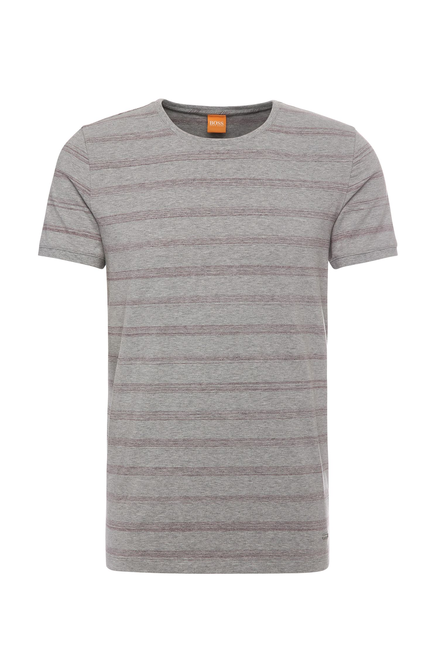 T-shirt relaxed fit in cotone elasticizzato a righe: 'Tex'
