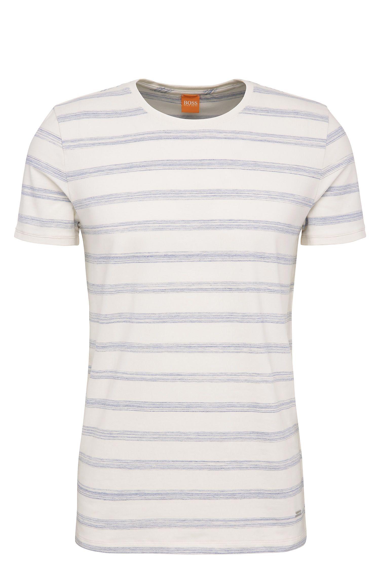 Relaxed-Fit T-Shirt aus Stretch-Baumwolle mit Streifen: ´Tex`