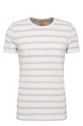 T-shirt Relaxed-Fit en coton extensible, à motif rayé : « Tex », Chair