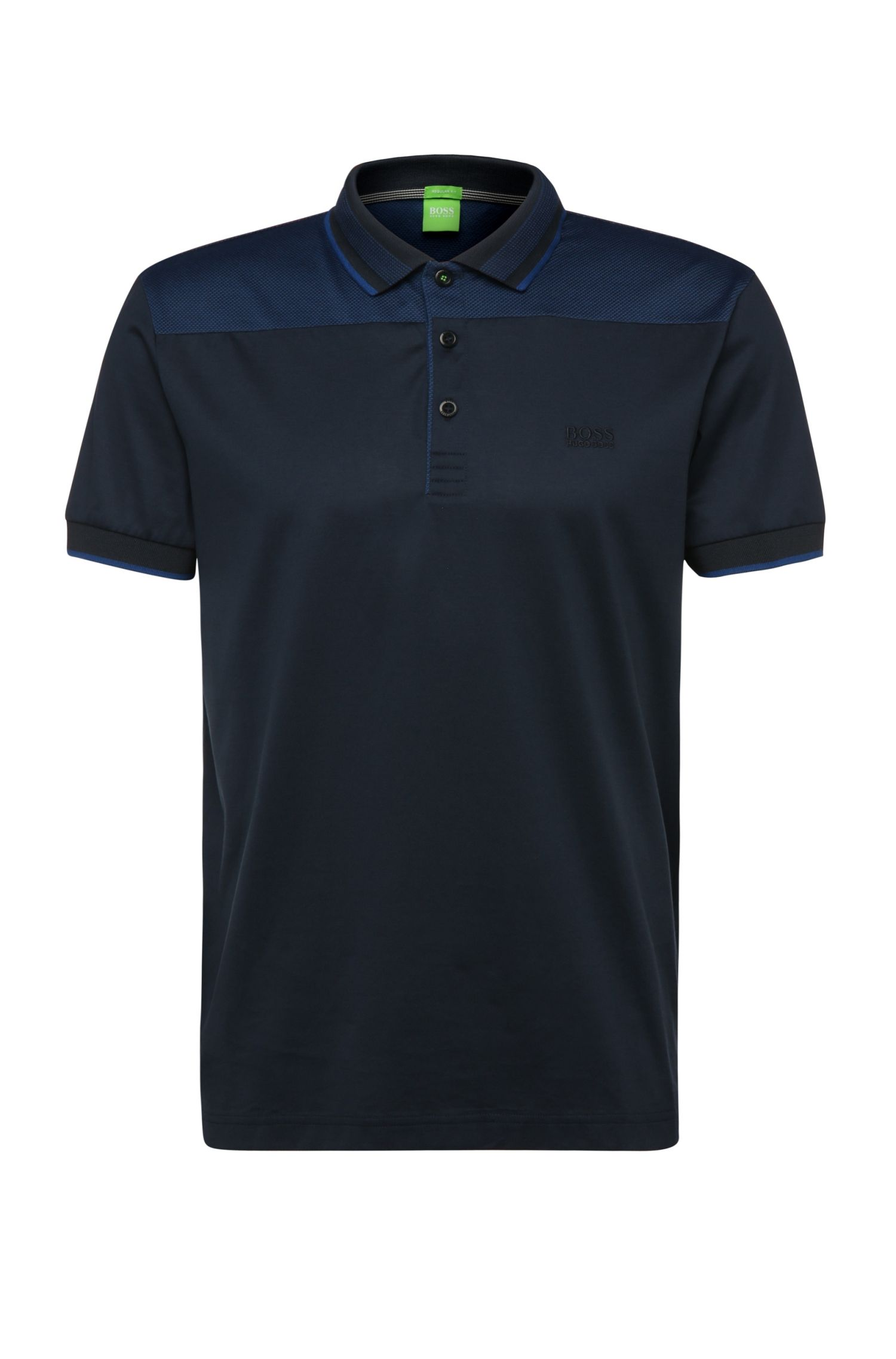 Regular-Fit Poloshirt aus Baumwolle mit Kontrast-Besatz: ´Pavel`