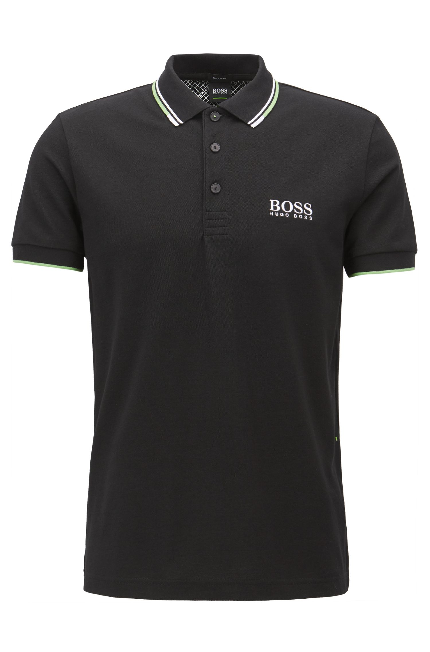 Polo in piqué regular fit con tecnologia ad asciugatura rapida by BOSS Green