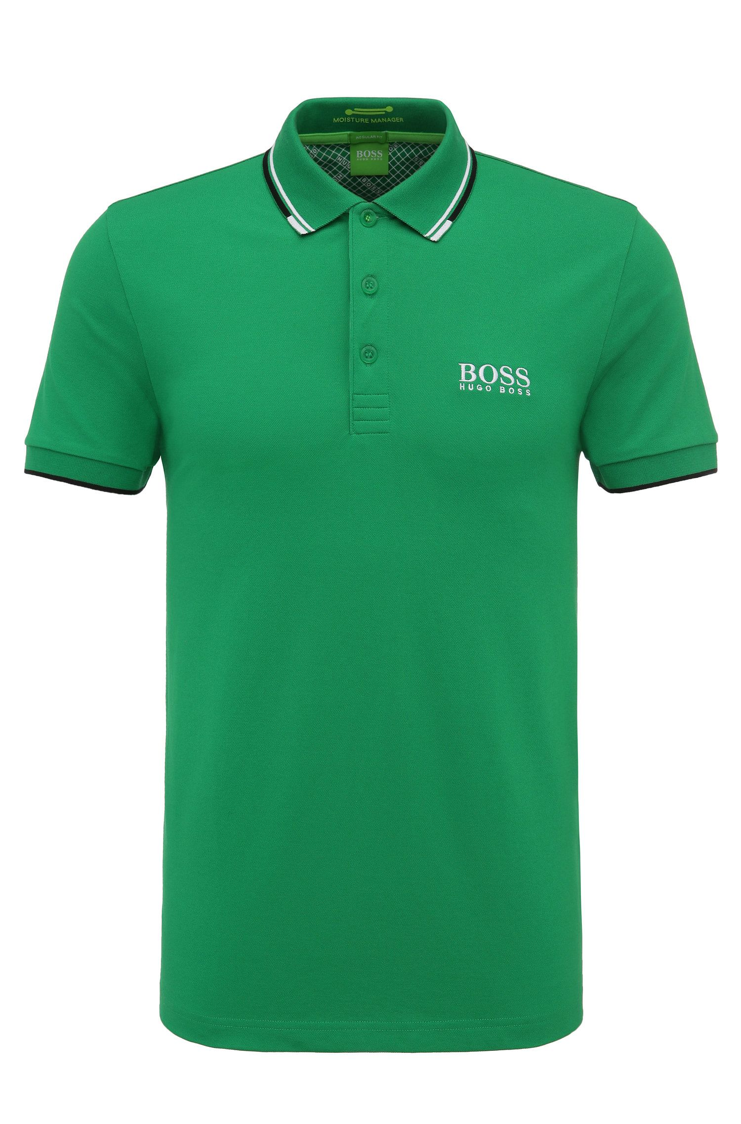 Regular-fit piqué poloshirt van BOSS Green met quick-dry-technologie