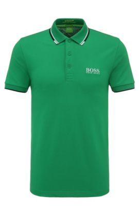 Schnelltrocknendes Piqué-Polo mit Regular-Fit, Hellgrün