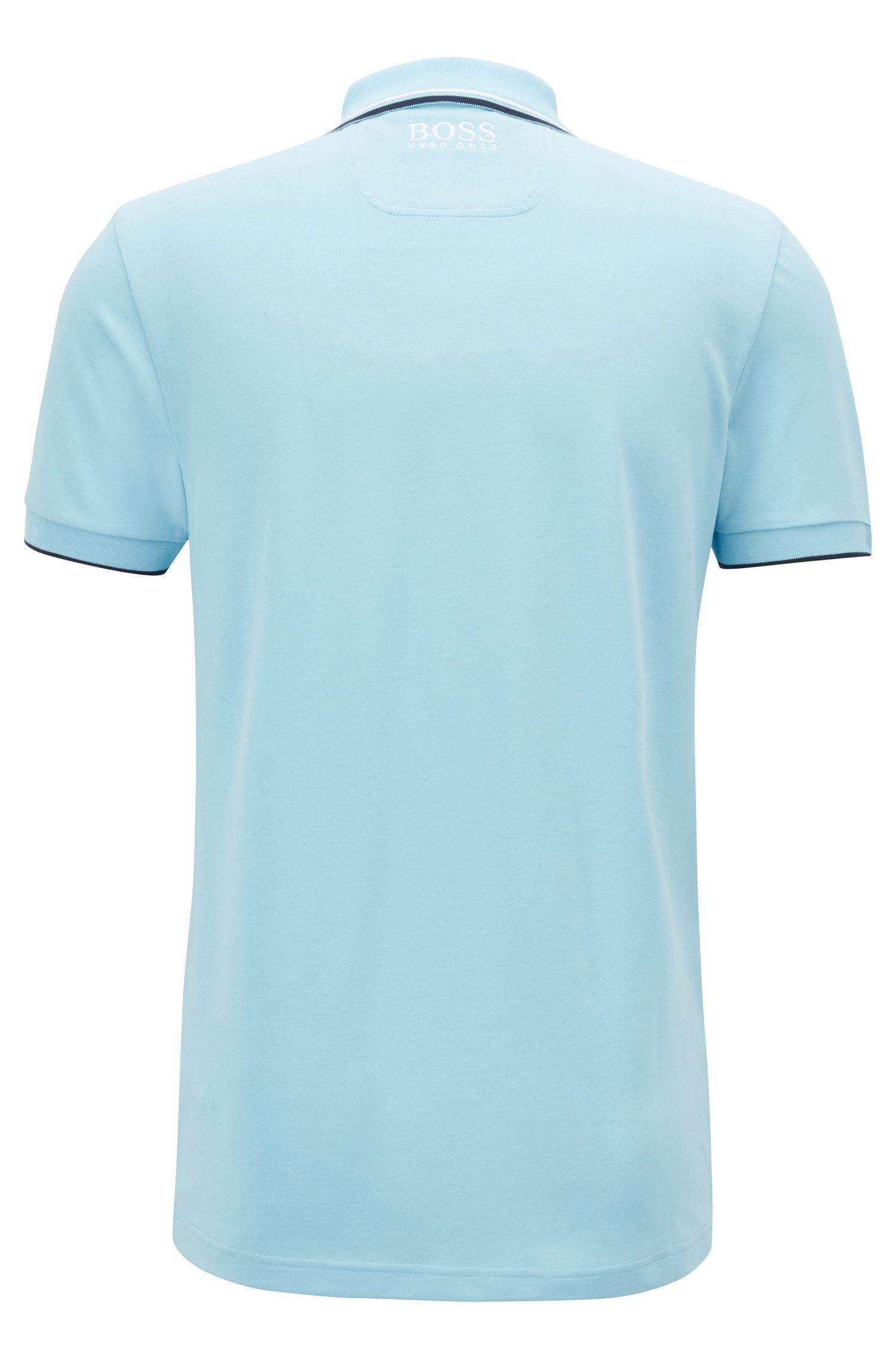 Polo Regular Fit en piqué doté de la technologie quick-dry, Bleu vif