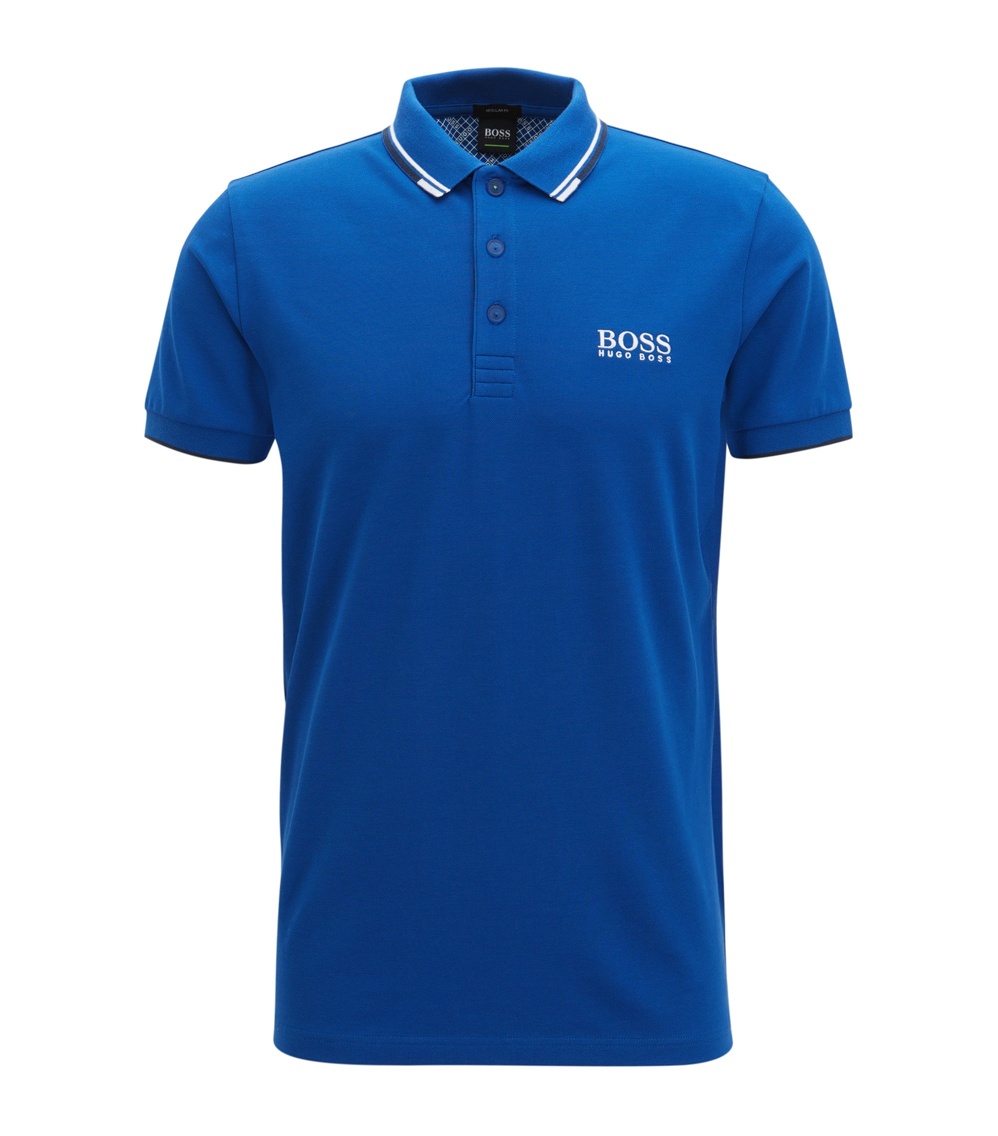 Schnelltrocknendes Piqué-Polo mit Regular-Fit, Blau
