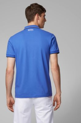 a002fcfe Regular fit piqué polo shirt with quick-dry technology