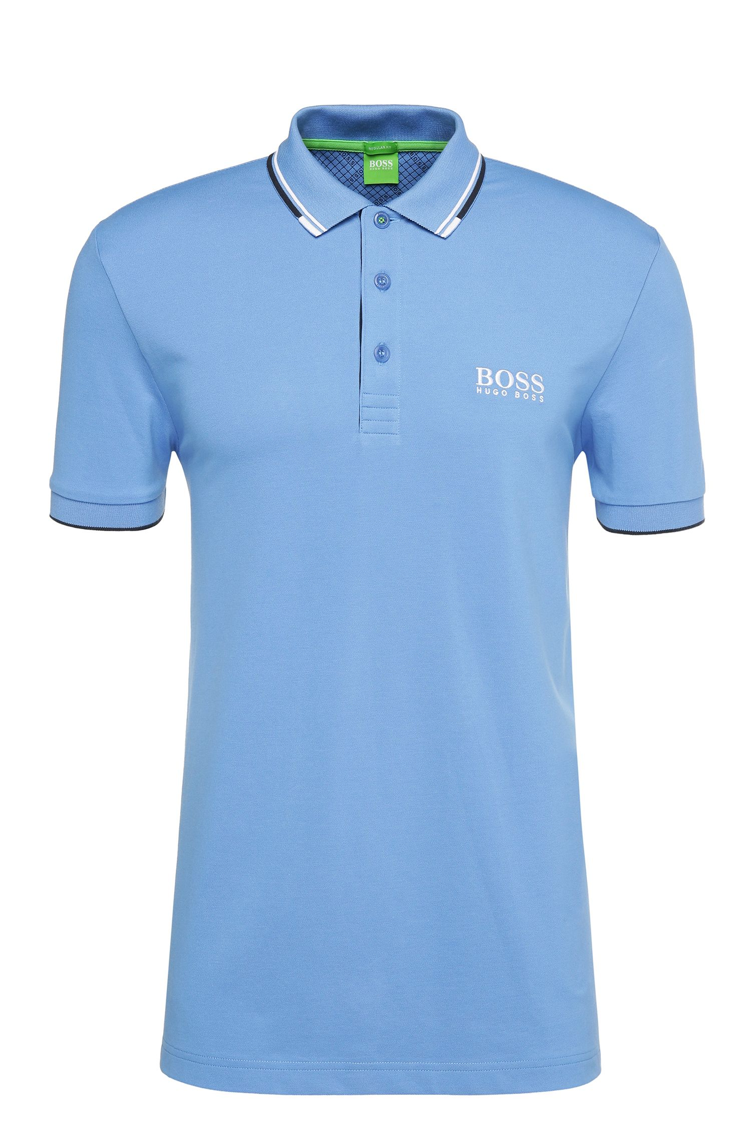 Polo BOSS Green Regular Fit en piqué doté de la technologie quick-dry