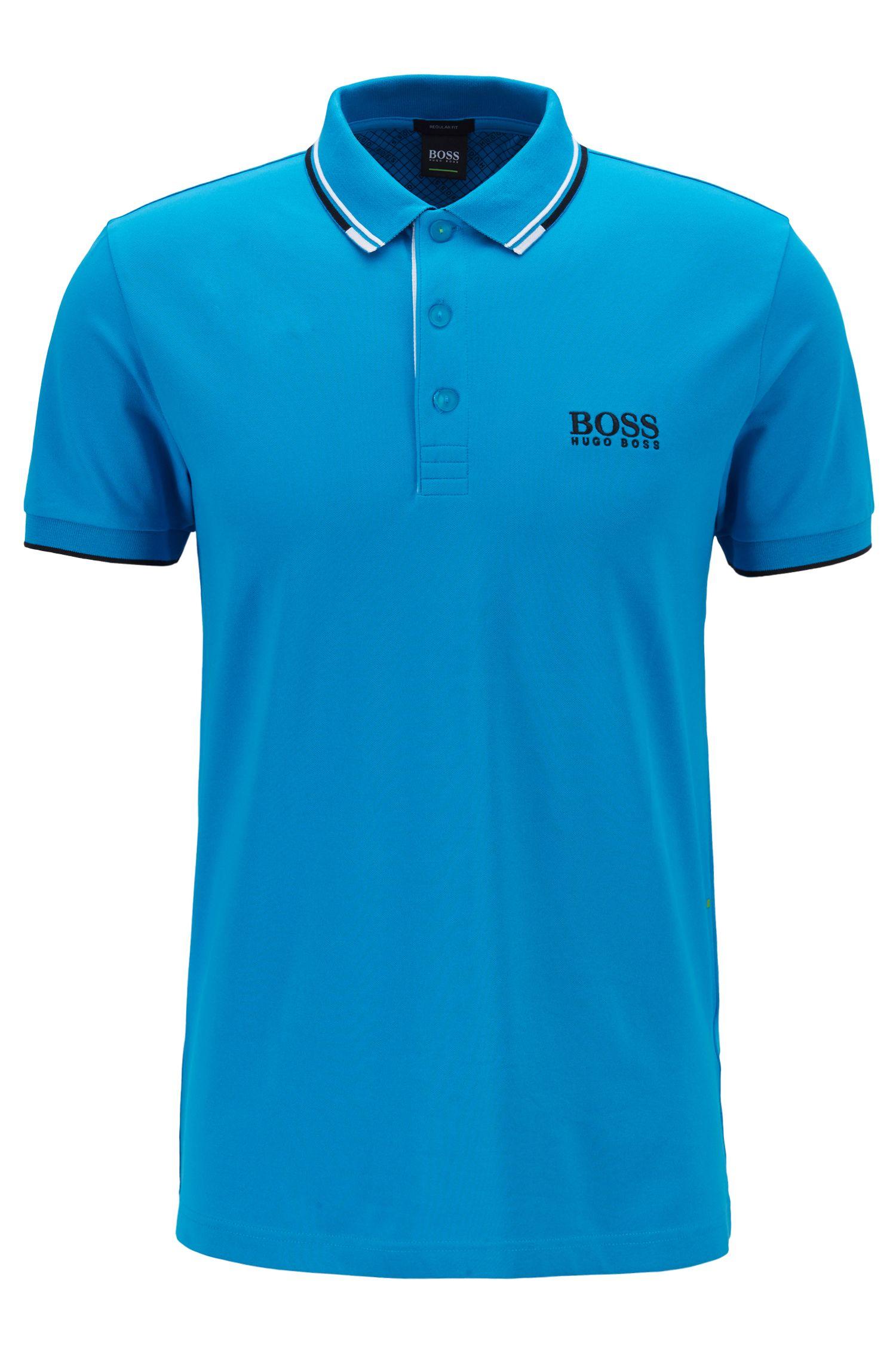 Schnelltrocknendes Piqué-Polo mit Regular-Fit, Blau
