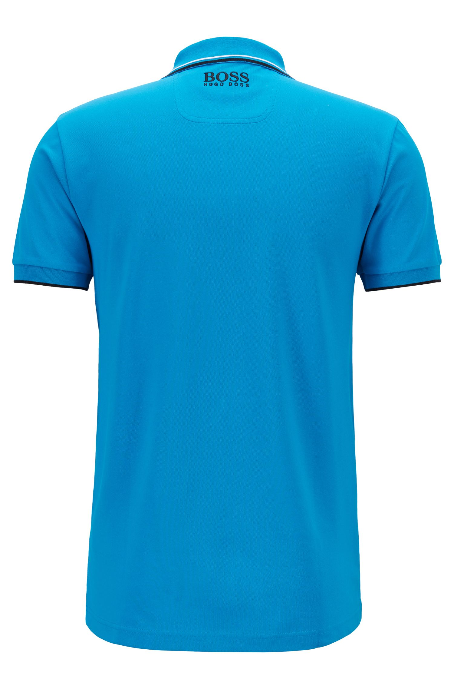 Regular-fit piqué poloshirt van met quick-dry-technologie, Blauw