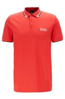 Schnelltrocknendes Piqué-Polo mit Regular-Fit, Rot