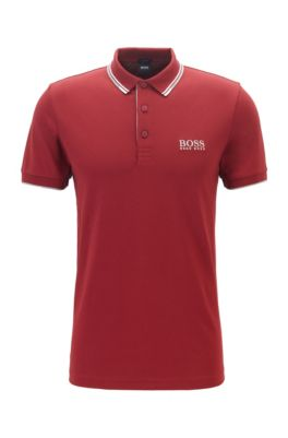 Schnelltrocknendes Piqué-Polo mit Regular-Fit, Rot