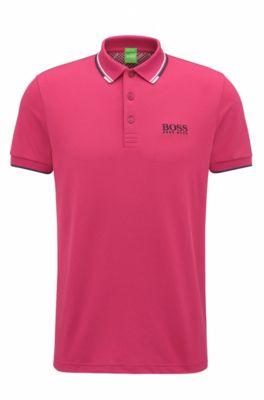 Polo regular fit en piqué con tecnología de secado rápido, Pink