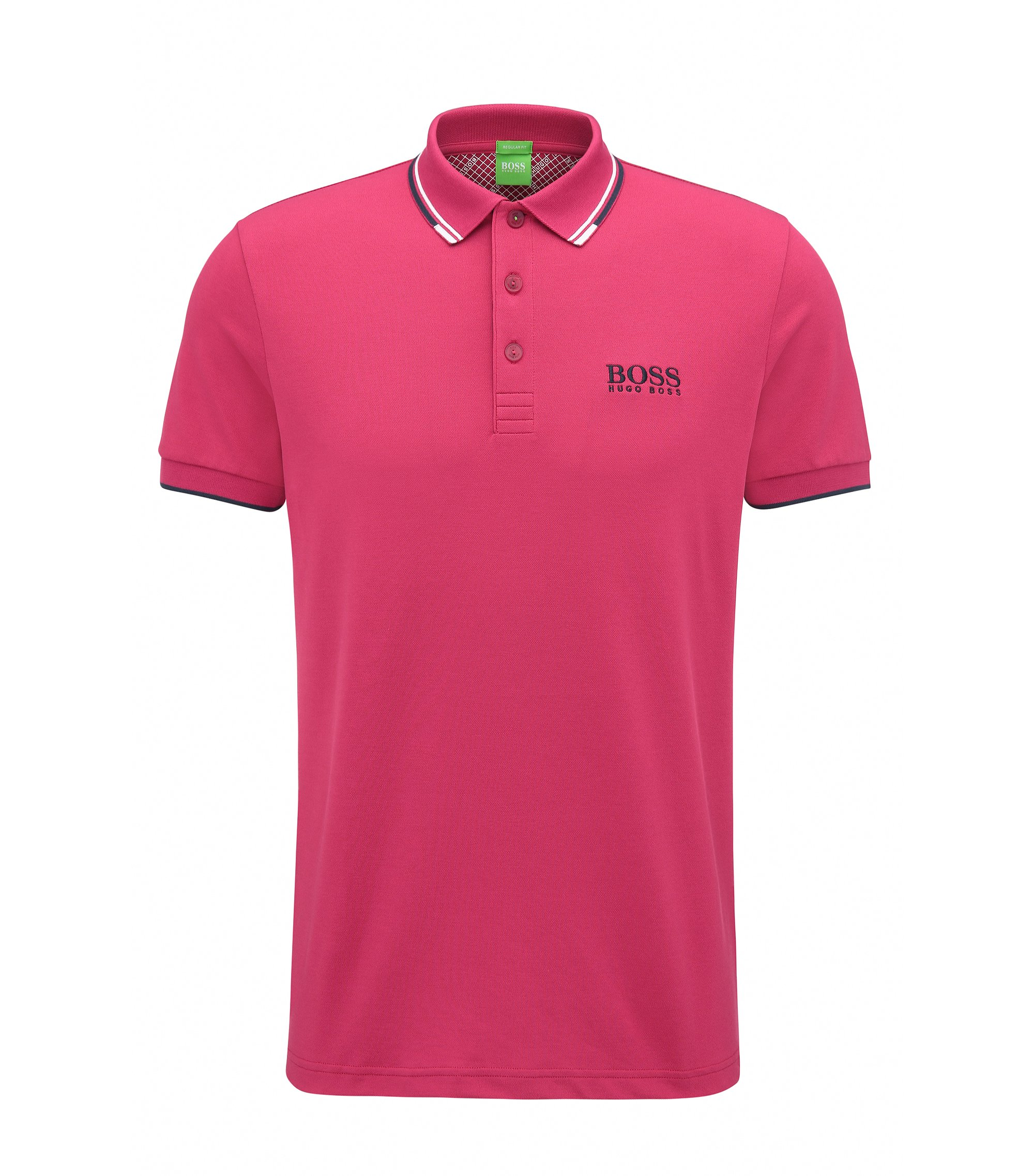 Schnelltrocknendes Piqué-Polo mit Regular-Fit, Pink