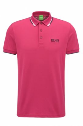 Polo Regular Fit en piqué doté de la technologie quick-dry, Rose