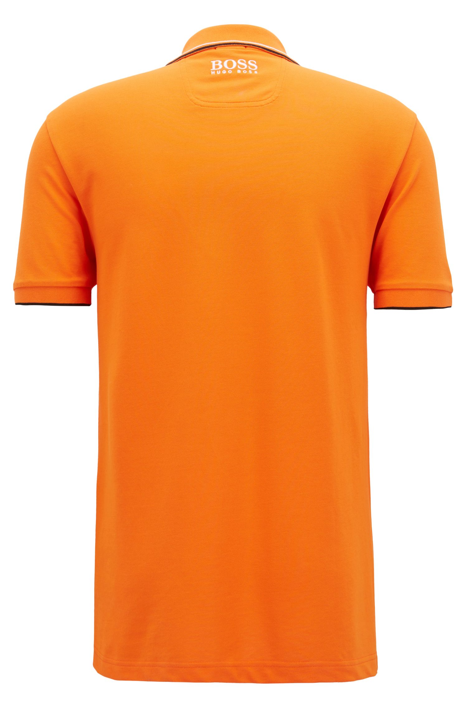 Polo Regular Fit en piqué doté de la technologie quick-dry, Orange