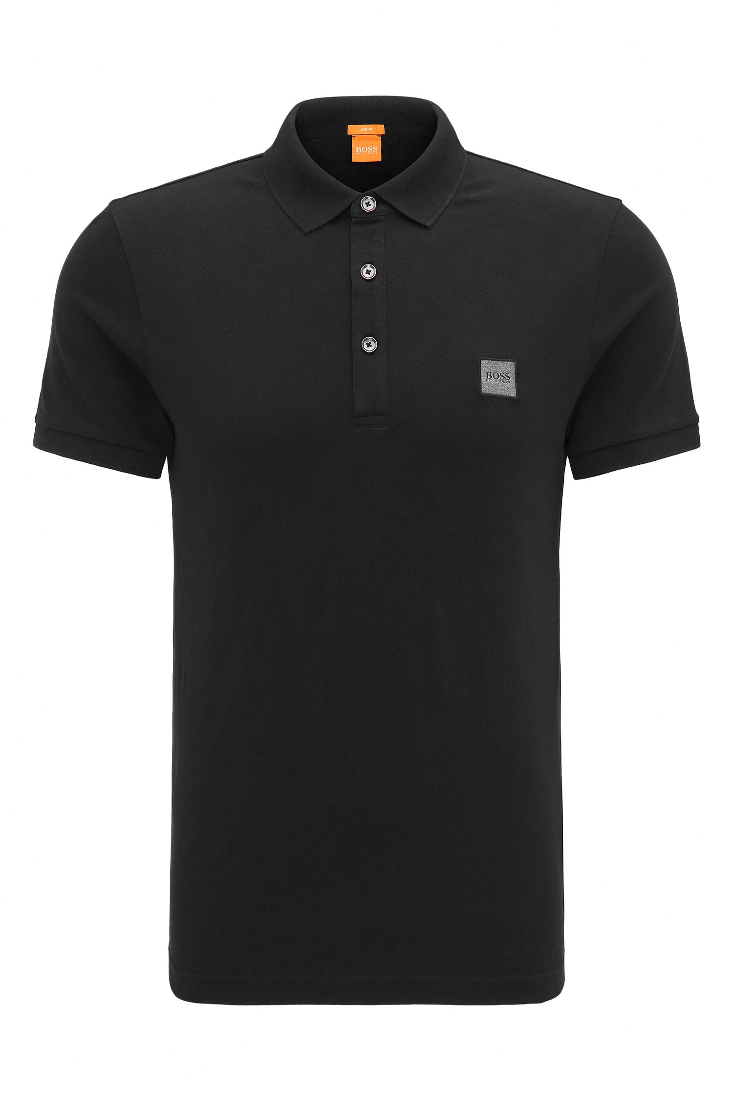 Polo Slim Fit en maille piquée stretch
