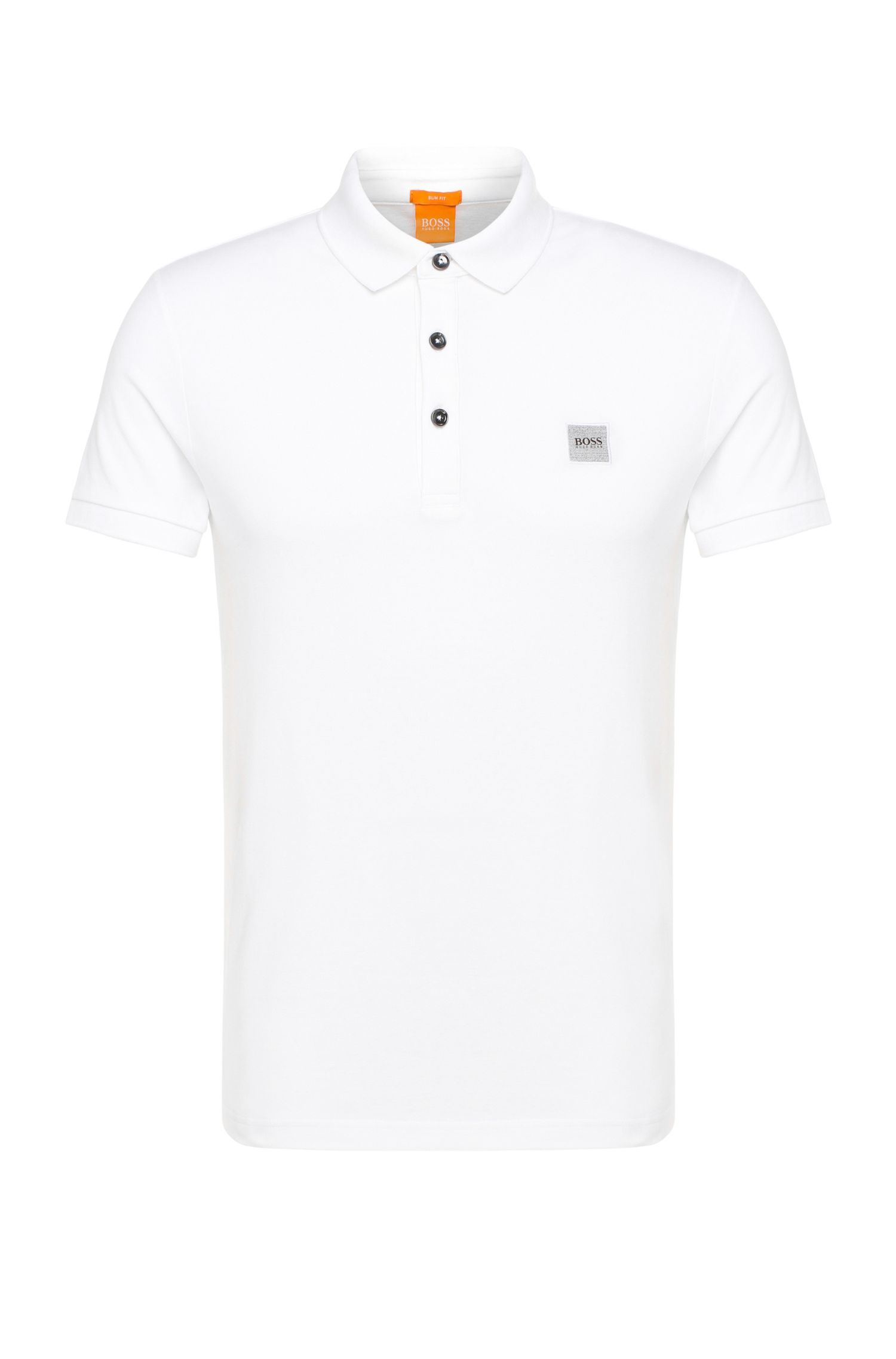 Slim-fit poloshirt in stretchpiqué