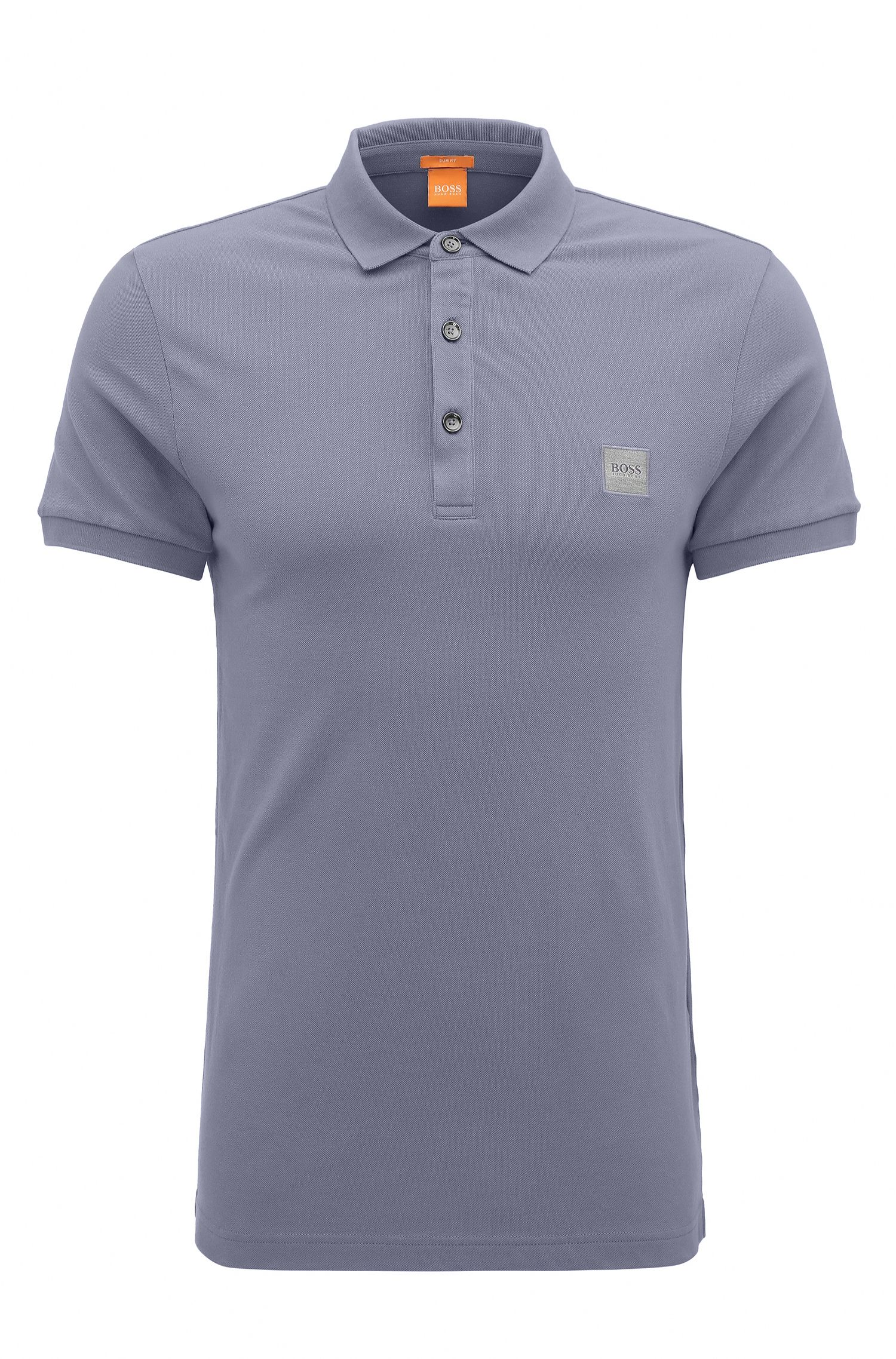 Slim-fit polo shirt in stretch piqué